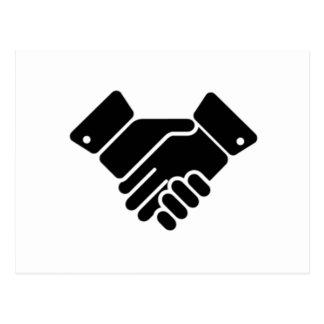 Handshake Sign Postcard