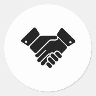 Handshake Sign Round Sticker