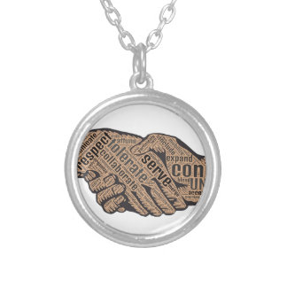 Handshake Silver Plated Necklace