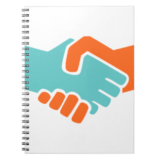 Handshake together spiral notebook