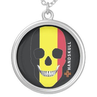 HANDSKULL Belgium,Happy skull,Belgium flag Pendants