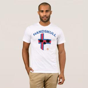 HANDSKULL Faroe Islands - Basic white short sleeve T-Shirt