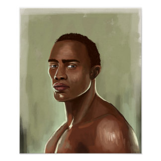 Handsome African man Poster