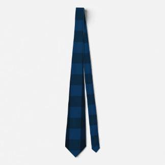 Handsome Black and Blue Plaid Tie