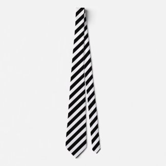 Handsome Black and White Striped Neck Tie