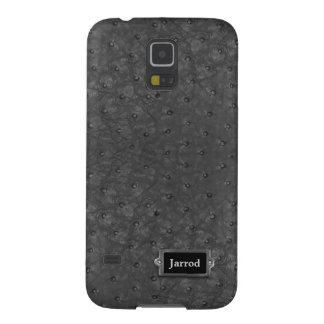 Handsome Black Ostrich Leather Look Case For Galaxy S5