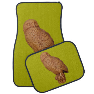 handsome brown owl car mat