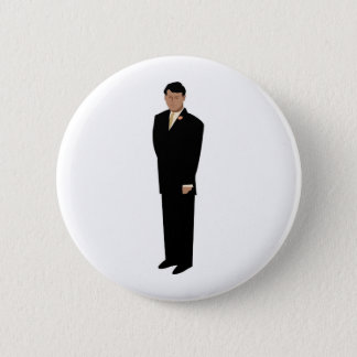 Handsome Groom in Tie 6 Cm Round Badge