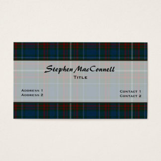 Handsome MacConnell Plaid Custom Business Card