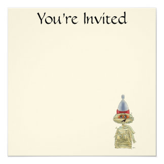 Handsome Mummific 13 Cm X 13 Cm Square Invitation Card
