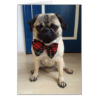 Handsome Pug in a Bow tie design Card