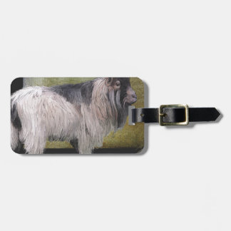Handsome pygmy goat luggage tag