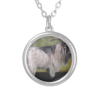 Handsome pygmy goat silver plated necklace