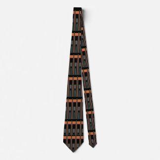 Handsome Stripe Tie 4 Him-Black/Grey/Orange/Blue