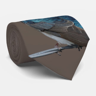 Handsome Tree Swallow: Bird on a Wire Tie