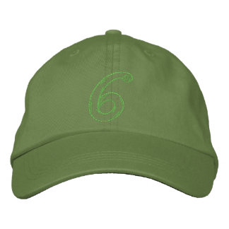 Handstitch Number 6 Embroidered Baseball Cap