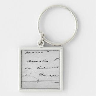 Handwriting and Signature Key Ring