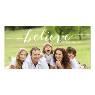 Handwriting Believe | Holiday Photo Card