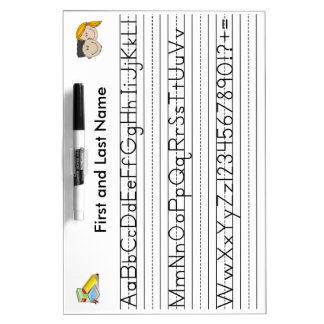 Handwriting Board, Horizontal Dry Erase Whiteboard