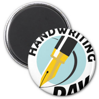Handwriting Day - Appreciation Day 6 Cm Round Magnet