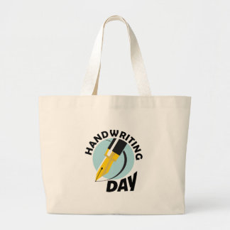 Handwriting Day - Appreciation Day Large Tote Bag