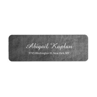 Handwriting Minimalist Professional Chalkboard Return Address Label