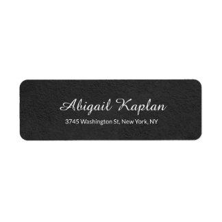 Handwriting Minimalist Professional Grey Elegant Return Address Label