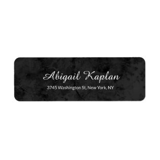 Handwriting Modern Professional Grey Elegant Return Address Label
