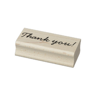 Handwriting Thank You Rubber Stamp