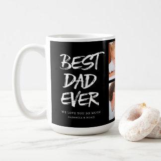 Handwritten Best Dad Ever Photo Collage Coffee Mug