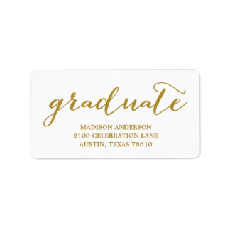 Handwritten | Graduation Address Label