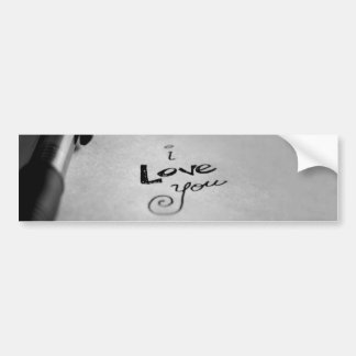 Handwritten I Love You Bumper Sticker