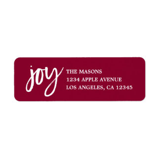 Handwritten Joy Return Address Label