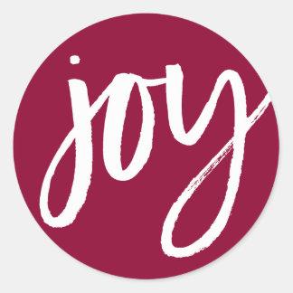 Handwritten Joy Round Sticker