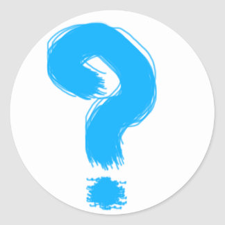 Handwritten Question Mark Round Sticker