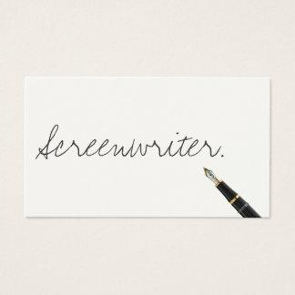 Handwritten Screenwriter Business Card