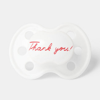handwritten Thank You note Pacifiers