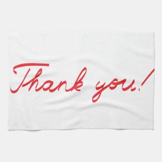 handwritten Thank You note Tea Towel