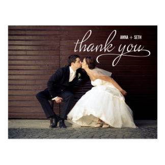 HANDWRITTEN Thank You Postcard - White