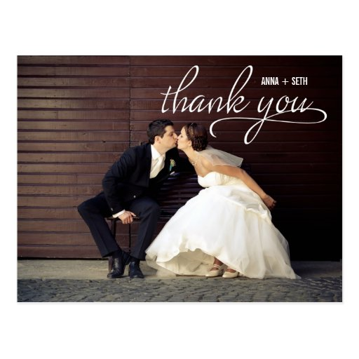 HANDWRITTEN Thank You Postcard - White Post Cards