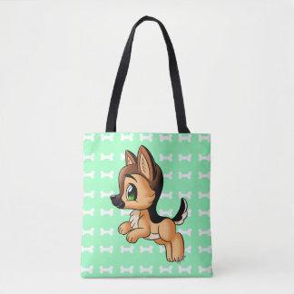 Handy German Shepherd Dog Tote Bag | 2 Sides