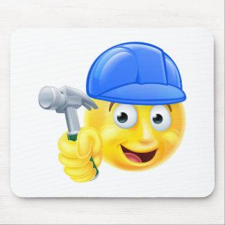 Handy Man Carpenter Builder Emoji Emoticon Mouse Pad