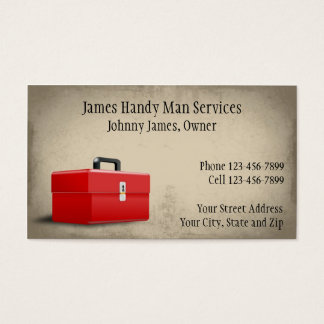 Handy Man Contractor Construction Business Card