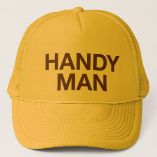 HANDY MAN fun slogan trucker hat