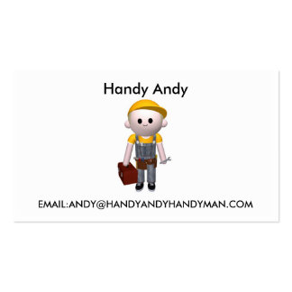 Handy man pack of standard business cards