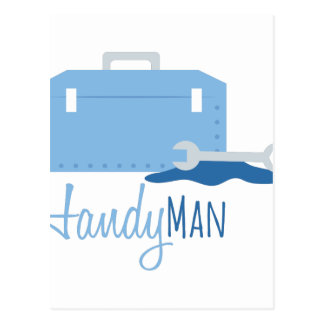 Handy Man Postcard