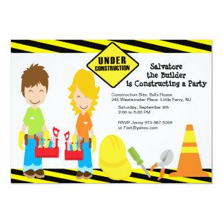 Handy Men Fix It Boys Birthday Invitation