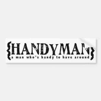 Handyman Bumper Sticker
