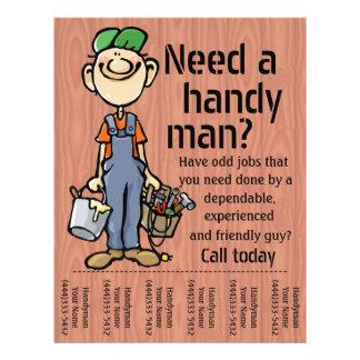 Handyman Carpenter Plumber Painter Earn Money 21.5 Cm X 28 Cm Flyer