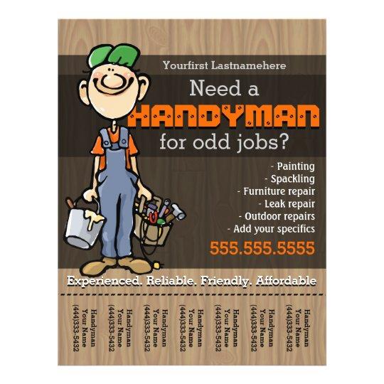 handyman carpenter plumberpainter odd jobs flyer